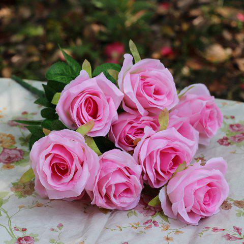 Home Decoration Flower Arrangement Artificial Roses - PINK