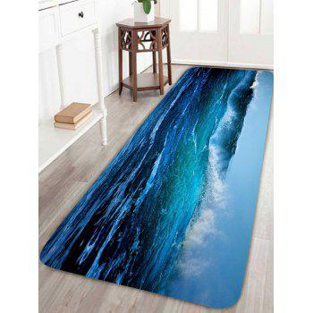 Nonslip Sea Wave Bathroom Rug