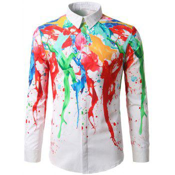 Long Sleeve Paint Splash Shirt