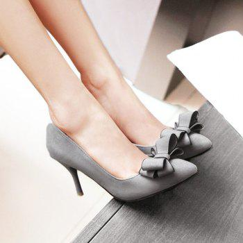 Bow Stiletto Heel Pointed Toe Pumps