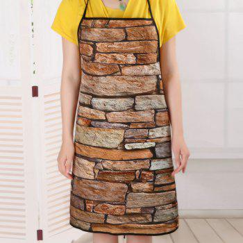 Waterproof Vintage Brick Cooking Apron - BROWN BROWN