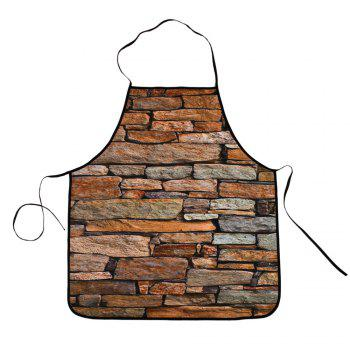 Waterproof Vintage Brick Cooking Apron - BROWN 80*70CM