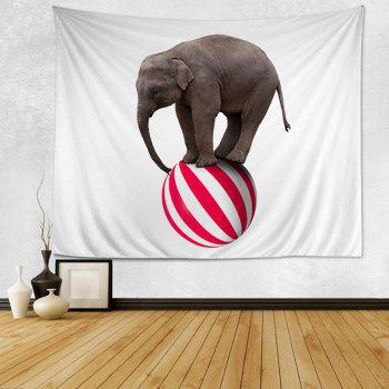 Wall Hanging Art Decor Elephant On A Ball Print Tapestry