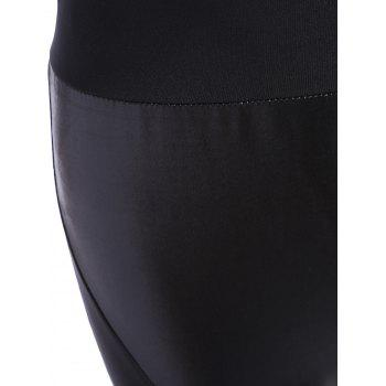 PU Panel Tight Leggings - S S