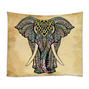 Wall Hanging Art Decor Mandala Elephant Print Tapestry - COLORMIX W91 INCH * L71 INCH