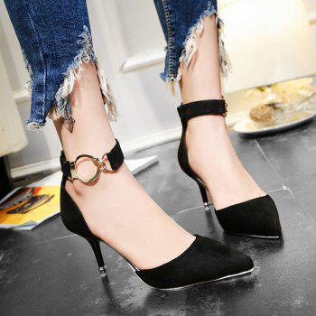 Two Piece Zipper Metal Ring Pumps