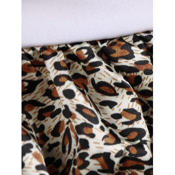 Lace Trim Leopard Skirted Cosplay Costume - LEOPARD ONE SIZE