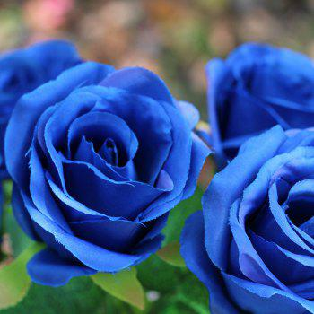 Home Decoration Flower Arrangement Artificial Roses - BLUE