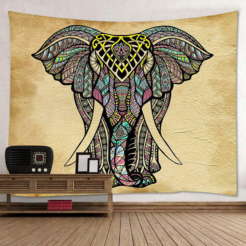 Wall Hanging Art Decor Mandala Elephant Print Tapestry - COLORMIX W79 INCH * L71 INCH