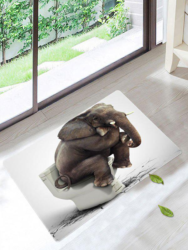 2018 Elephant Toilet Skidproof Bathroom Rug Gray W Inch L In