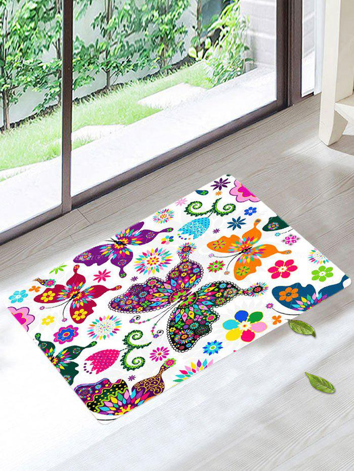 Coral Velvet Colorful Butterfly Bathroom Rug - COLORFUL W16 INCH * L24 INCH