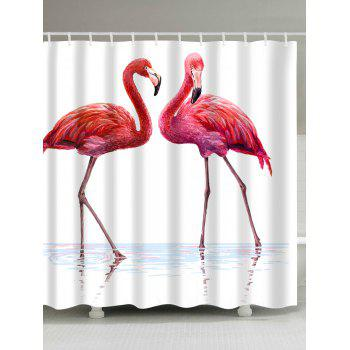 Flamingo in Water Extra Long Shower Curtain