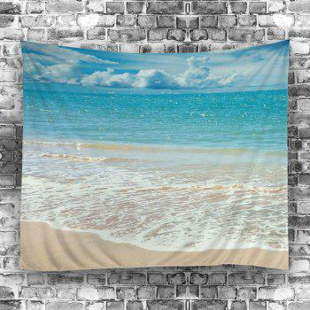 Wall Hanging Beach Style Wave Print Tapestry - LAKE BLUE W59 INCH * L59 INCH