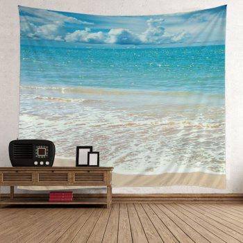 Wall Hanging Beach Style Wave Print Tapestry