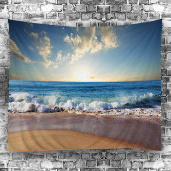 Wall Decoration Beach Sunlight Tapestry - LAKE BLUE W59 INCH * L79 INCH