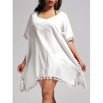 Batwing Sleeve Oversized Cover Up Dress