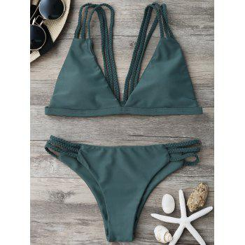 Strappy Braided Bikini Set