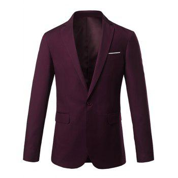 Lapel One Button Edging Slim Fit Blazer