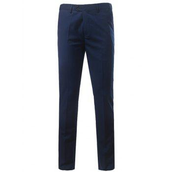Zipper Fly Straight Leg Slim Fit Chino Pants