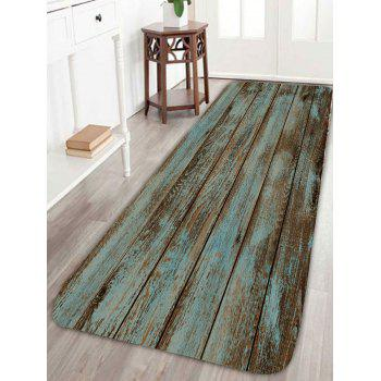 Wood Grain Print Bathroom Rug