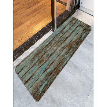 Wood Grain Print Bathroom Rug - GREEN W24 INCH * L71 INCH