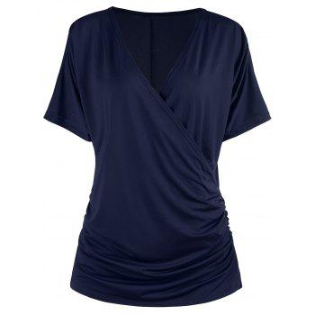 Scrunch Ruched Surplice T-shirt