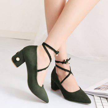 Pointed Toe Tie Up Pumps