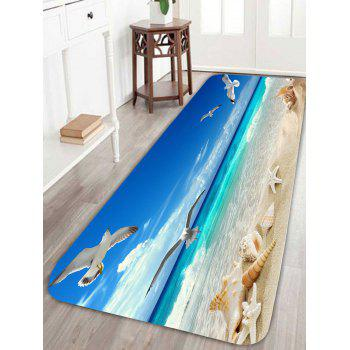 Sea Gull Conch Starfish Beach Bath Rug