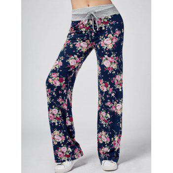 High Waisted Floral Wide Leg Sweatpants
