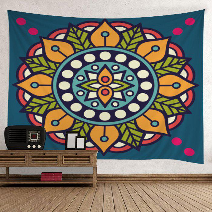 Mandala Print Hippie Tapestry Wall Hanging Art - COLORMIX W79 INCH*L59 INCH