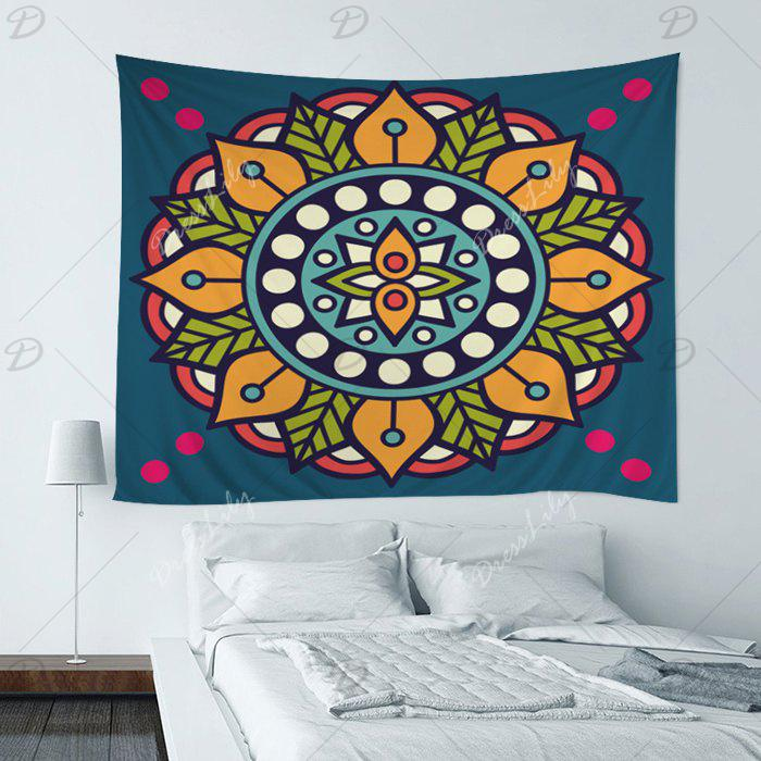 Mandala Print Hippie Tapestry Wall Hanging Art - COLORMIX W59 INCH*L51 INCH