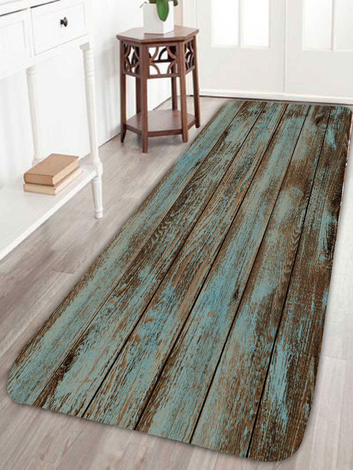 2018 Wood Grain Print Bathroom Rug Green W Inch L Inch In