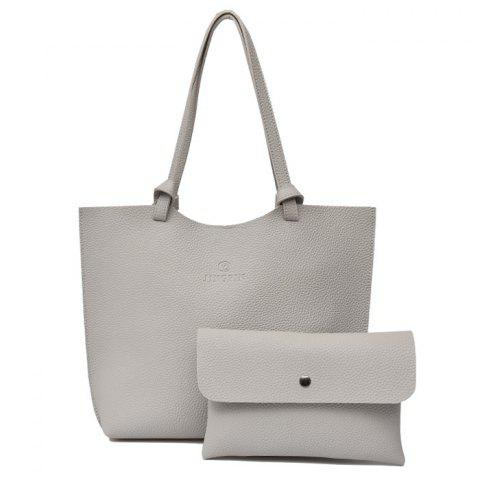 Pebble PU Leather Crossbody Bag and Shoulder Bag - LIGHT GRAY