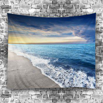 Beach Sunset Pattern Wall Tapestry - LIGHT BLUE W59 INCH * L79 INCH