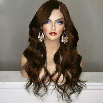 Long Bouffant Side Part Wavy Synthetic Wig