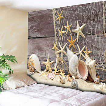 Home Decor Wall Hanging Beach Style Wood Tapestry - LIGHT COFFEE LIGHT COFFEE