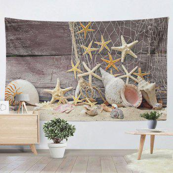Home Decor Wall Hanging Beach Style Wood Tapestry - LIGHT COFFEE W59 INCH * L79 INCH