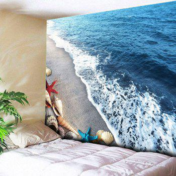 Home Decor Wall Hanging Beach Conch Tapestry - BLUE W51 INCH * L59 INCH