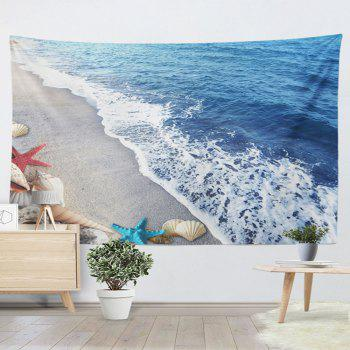 Home Decor Wall Hanging Beach Conch Tapestry - BLUE BLUE