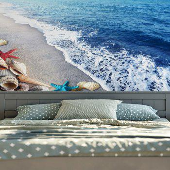 Home Decor Wall Hanging Beach Conch Tapestry - BLUE W59 INCH * L79 INCH