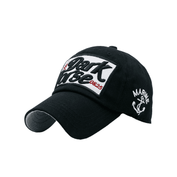 Letters Boat Anchor Printed Baseball Hat