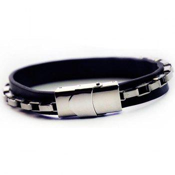 Link Chain Fake Leather Bracelet