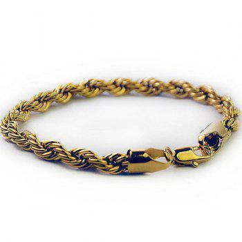 Twisted Plated Rope Bracelet