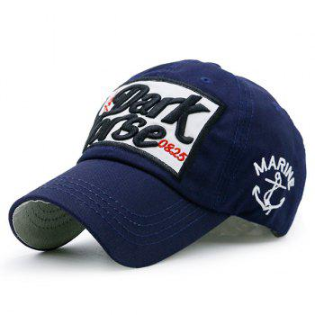 Letters Boat Anchor Patterned Baseball Hat