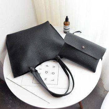 Pebble PU Leather Crossbody Bag and Shoulder Bag - BLACK