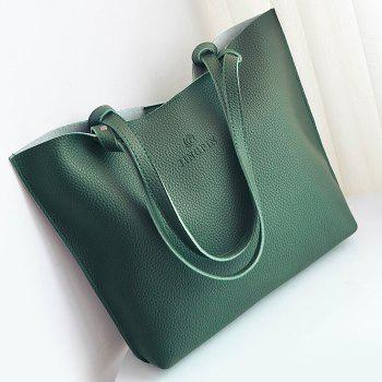 Pebble PU Leather Crossbody Bag and Shoulder Bag - GREEN
