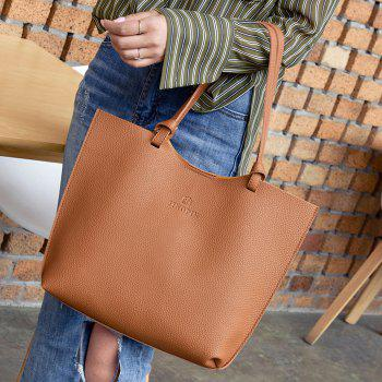 Pebble PU Leather Crossbody Bag and Shoulder Bag - BROWN