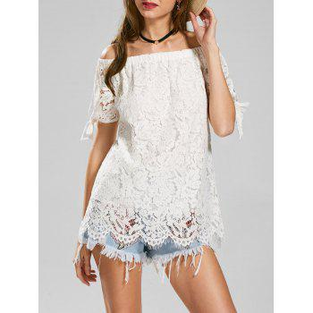 Lace Off The Shoulder Tunic Tee