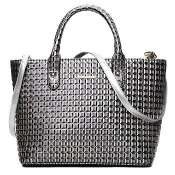 5 Pieces Geometrci Print Handbag Set -  GRAY