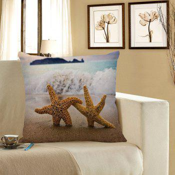 Starfish Beach Style Pillow Case - LIGHT BLUE LIGHT BLUE